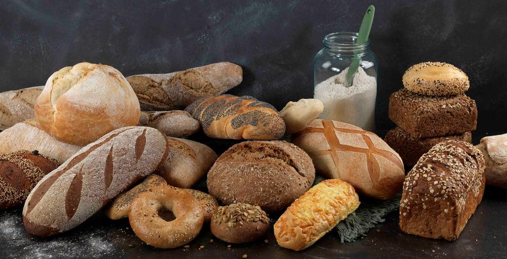 Brød porsjonsbrød, baguette samlebilde