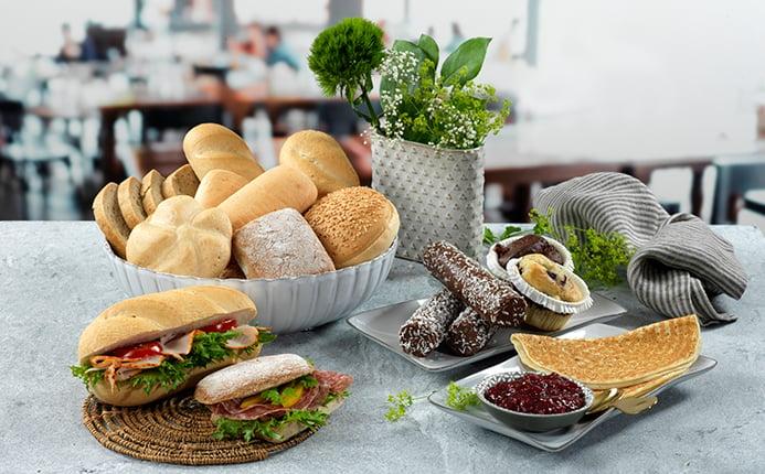 Glutenfrie brød, muffins og pannekaker
