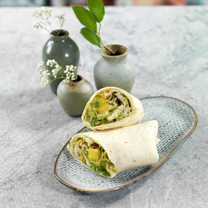oppskrift wrap fin med kylling og mangosalat