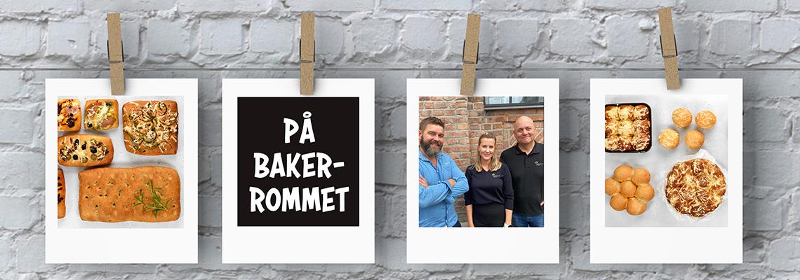 Baker Gunnar og kategorisjefer Anette og Fredrik har utviklet focaccia og japanske melkeboller