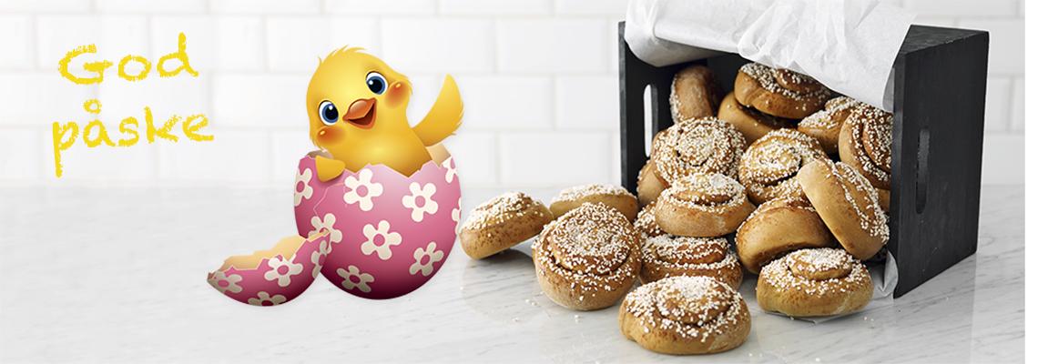 Nystekte boller gir fornøyde gjester i påsken