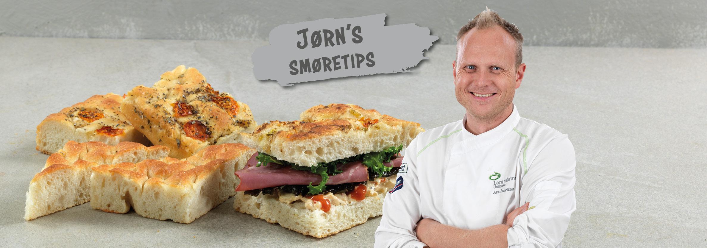 Vår egen kokk Jørn Lauritzen deler tips og inspirasjon til hvordan focaccia kan serveres som sandwich