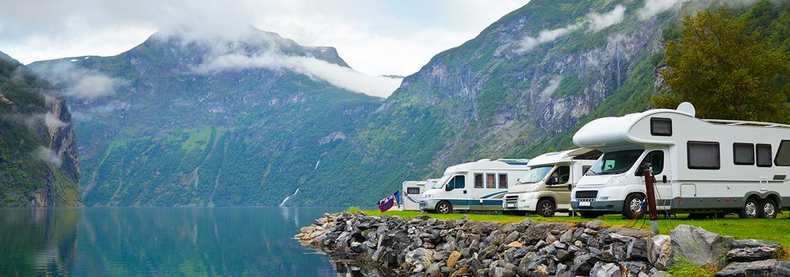 Camping-fjell-vann